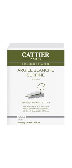 ARGILE BLANCHE SURFINE 200 G cattier